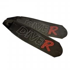 DiveR Innegra Black Carbon Fiber Long Fin Blades