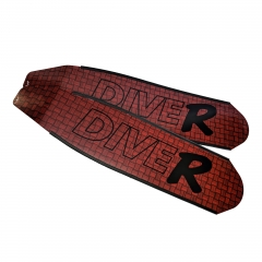 DiveR Innegra Red Carbon Fiber Long Fin Blades