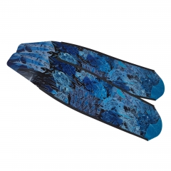 DiveR Bonefish Blue Carbon Fiber Long Fin Blades