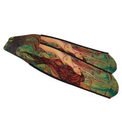 DiveR Mermaid Green Carbon Fiber Long Fin Blades