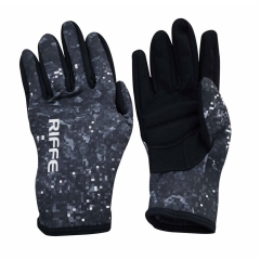 Riffe Vortex Black Amara / Camo Neoprene Gloves