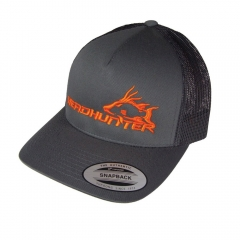 Headhunter Snapback Hat - Charcoal w/ Orange Logo