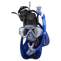 Cressi Rocks Pro Junior Dry Set - Mask, Fins, Snorkel