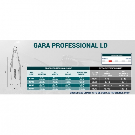 Image result for gara professional ld size